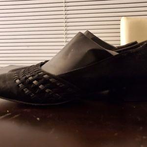 Salvatore Ferragamo Black Suede Shoes. Size: 8